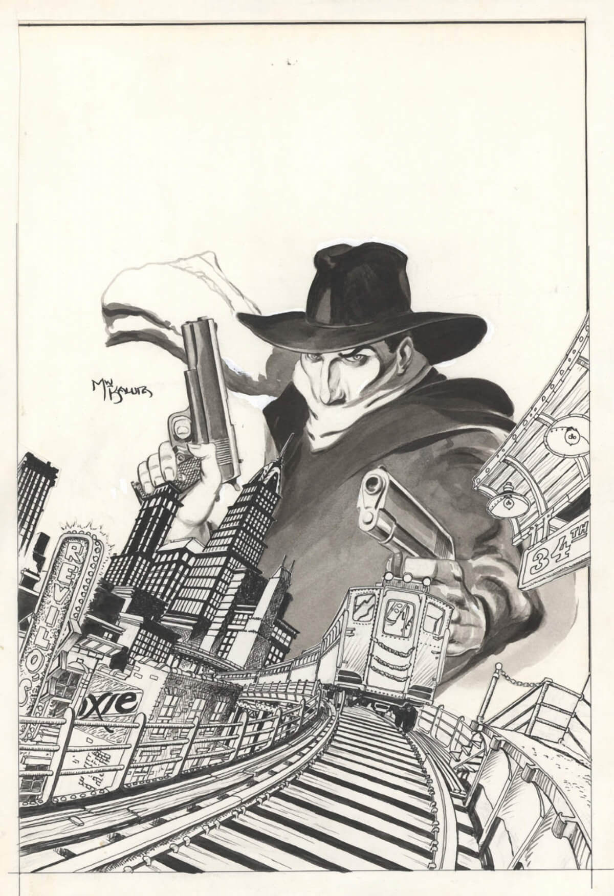 The Shadow 1 Cover by Michael Wm Kaluta