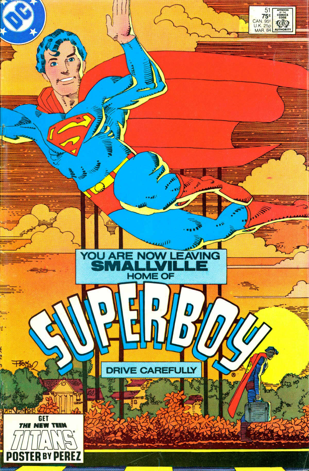 The New Adventures of Superboy 51 Cover by Frank Miller