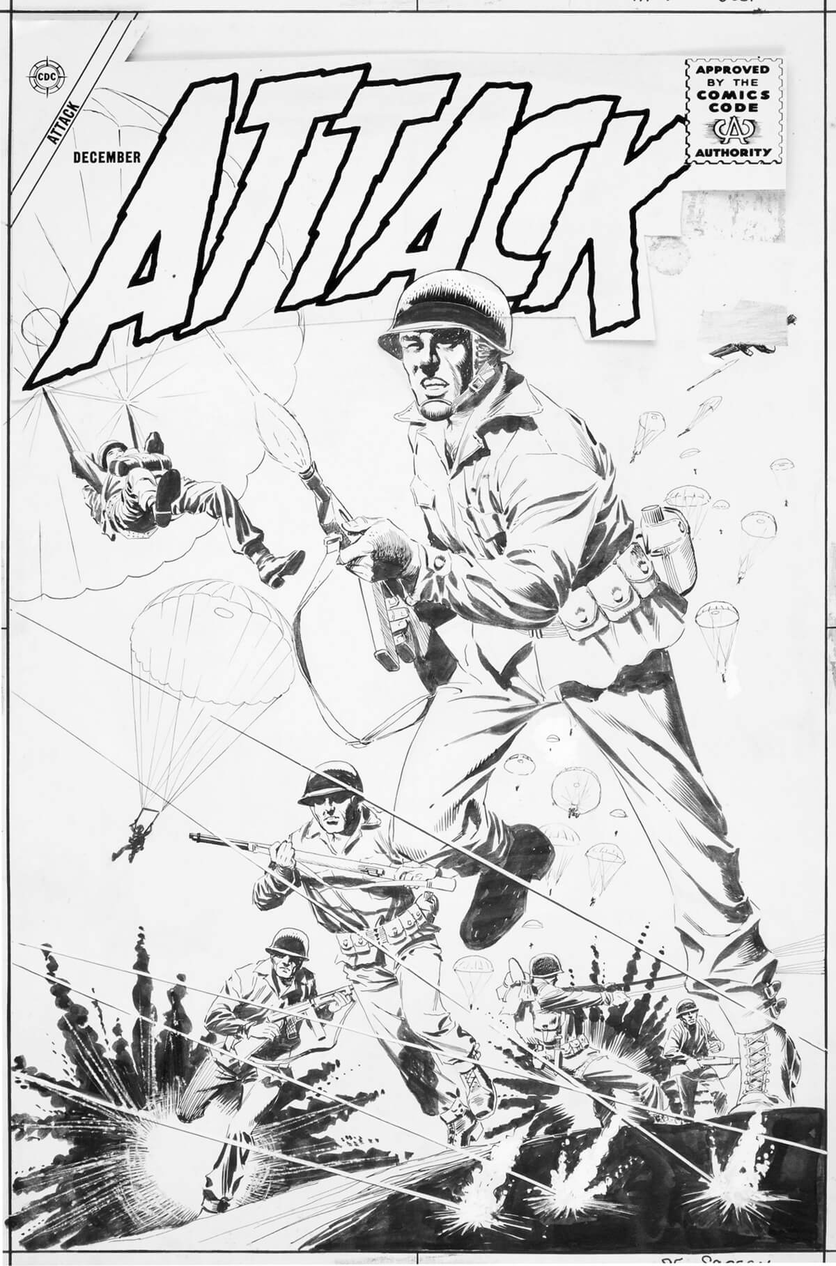 Comic book art restoration by Scott Dutton
