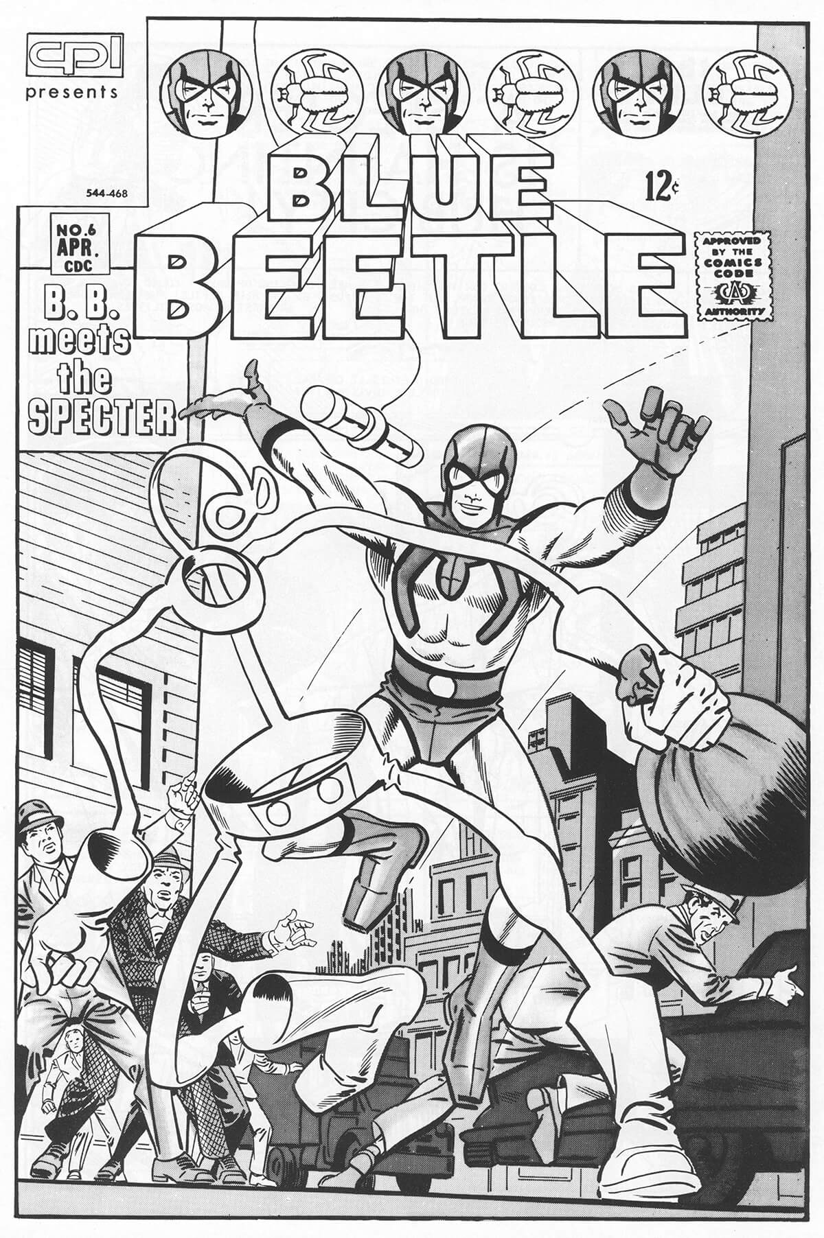 Blue Beetle 6 Cover by Steve Ditko