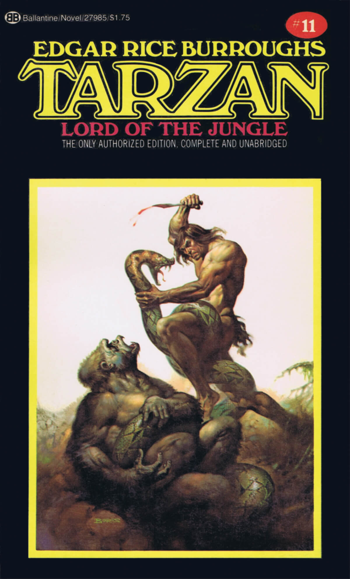 Boris Vallejo 11 Tarzan Lord Of The Jungle Cover