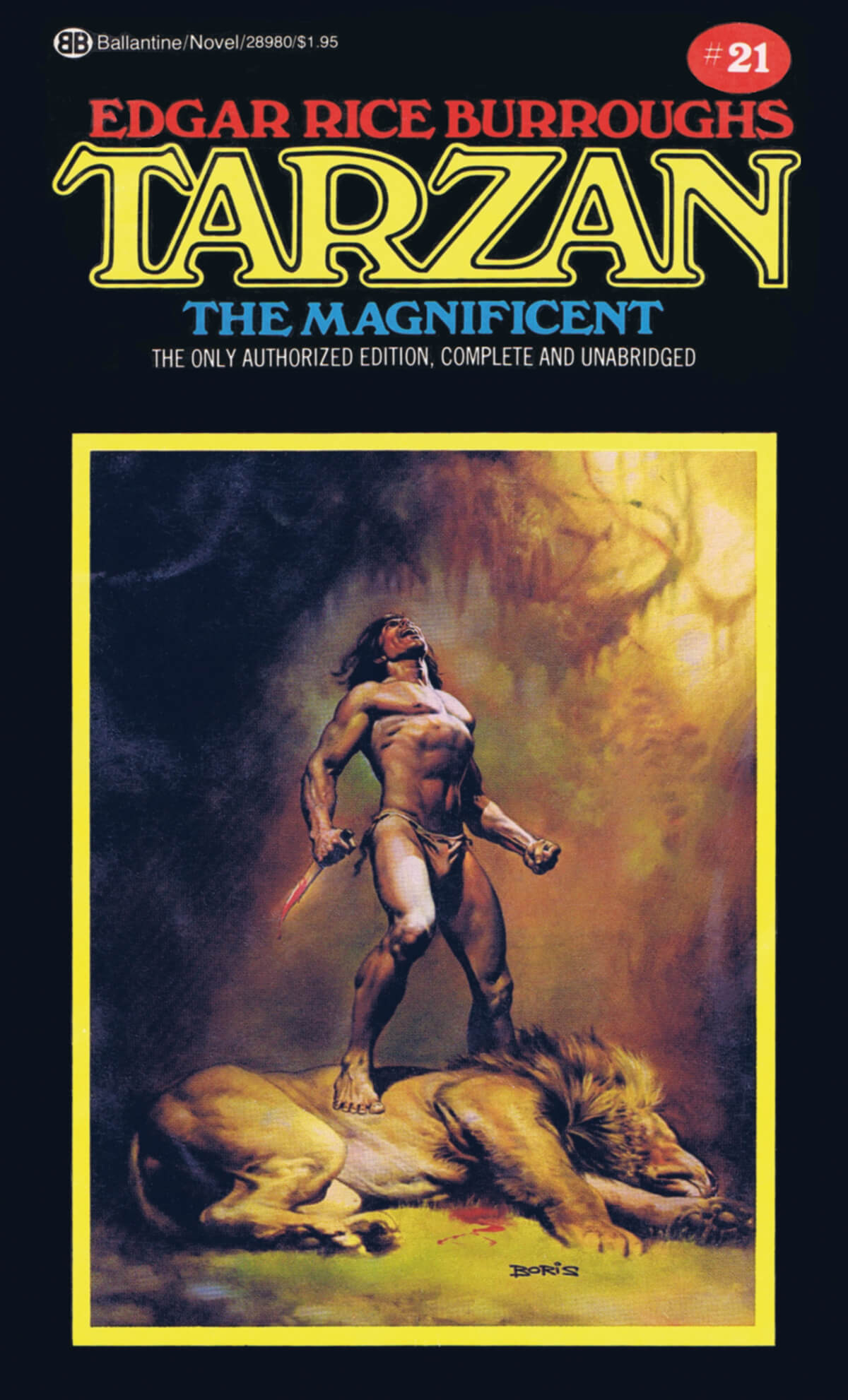 Boris Vallejo 21 Tarzan The Magnificent Cover