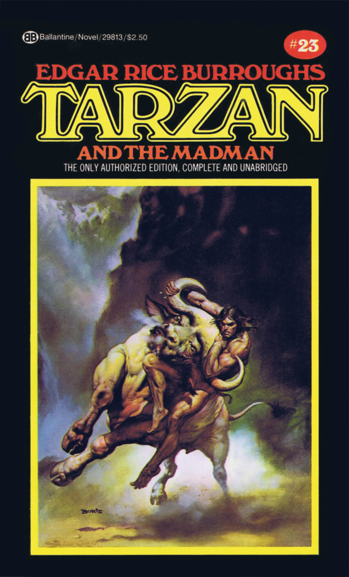 Boris Vallejo 23 Tarzan And The Madman Cover
