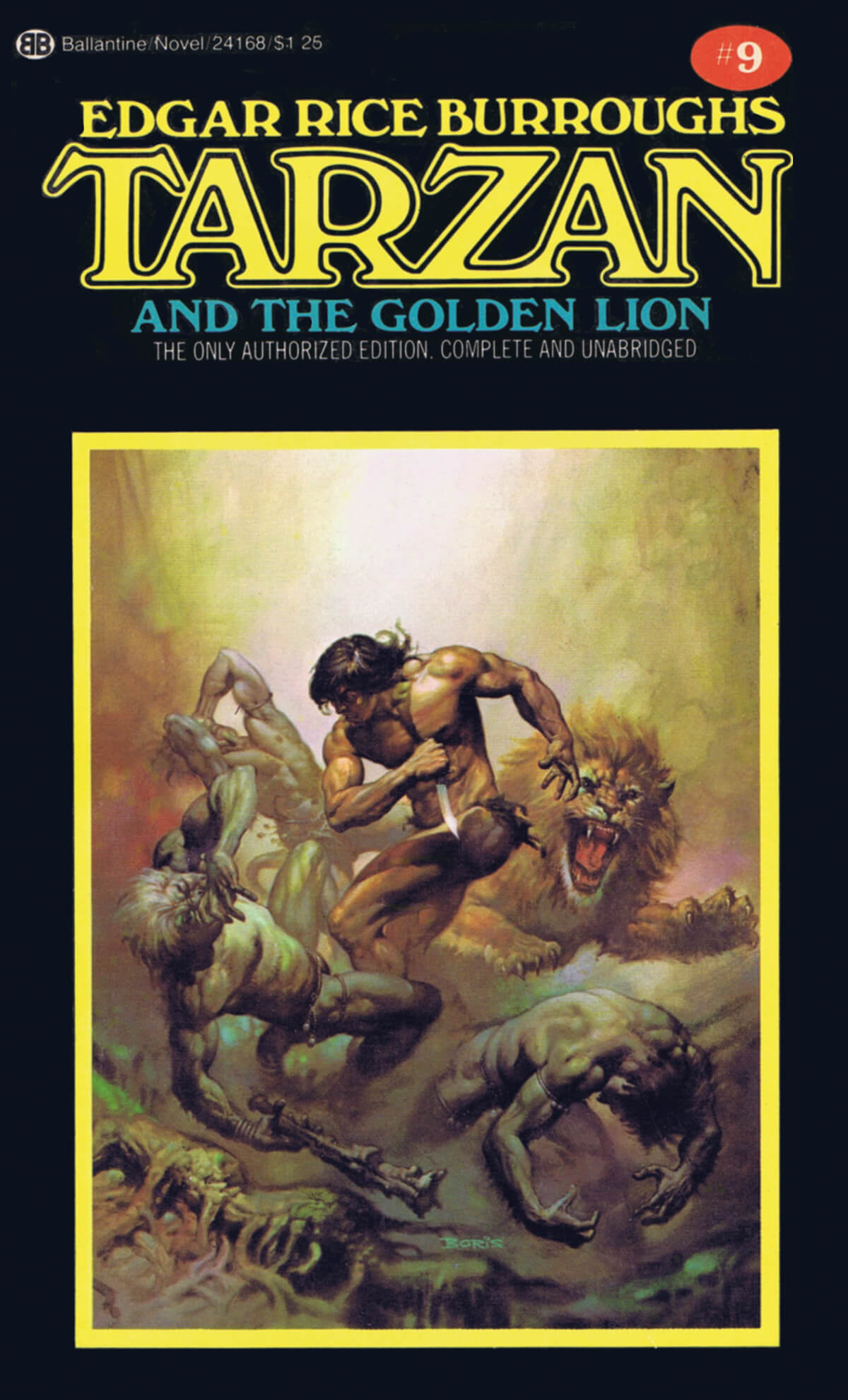 Boris Vallejo 9 Tarzan And The Golden Lion Cover