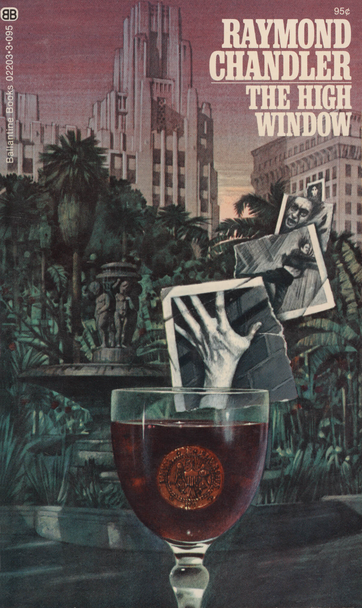 The High Window by Raymond Chandler, Cover by Tom Adams