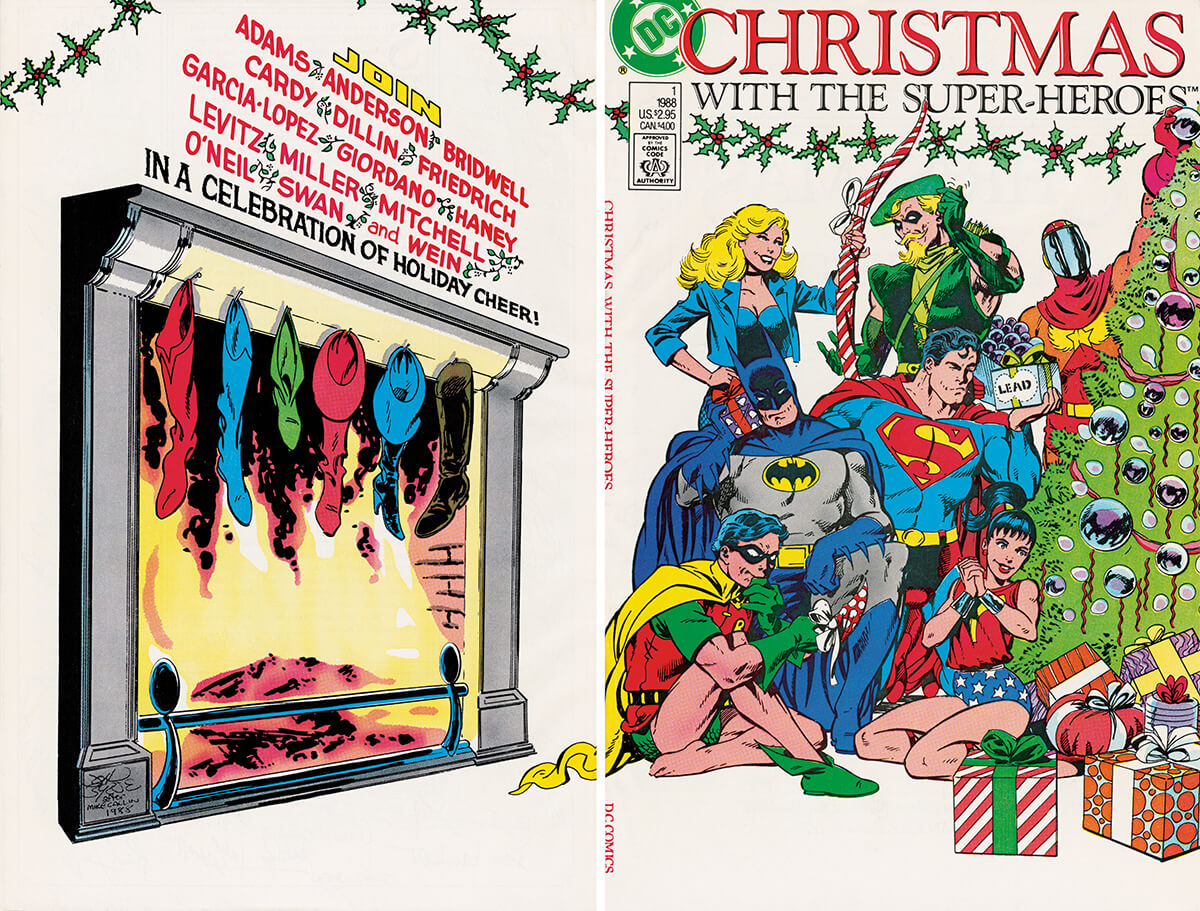 Christmas With The Super Heroes No 1 Cover DC Comics