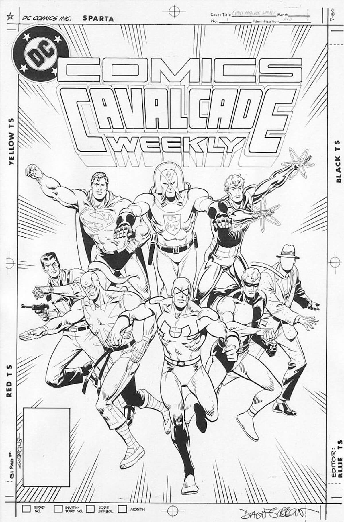 Comics Cavalcade Weekly Cover by Dave Gibbons