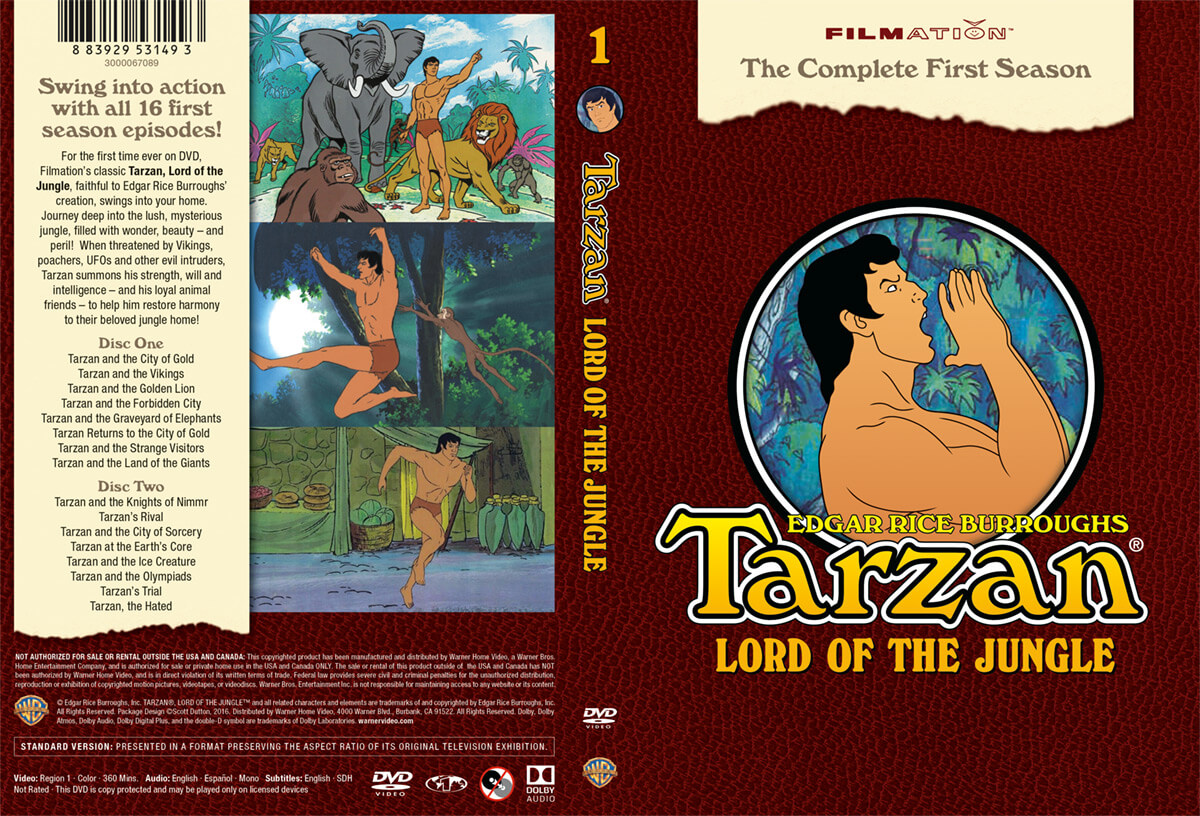 Tarzan Lord of the Jungle Filmation DVD Cover