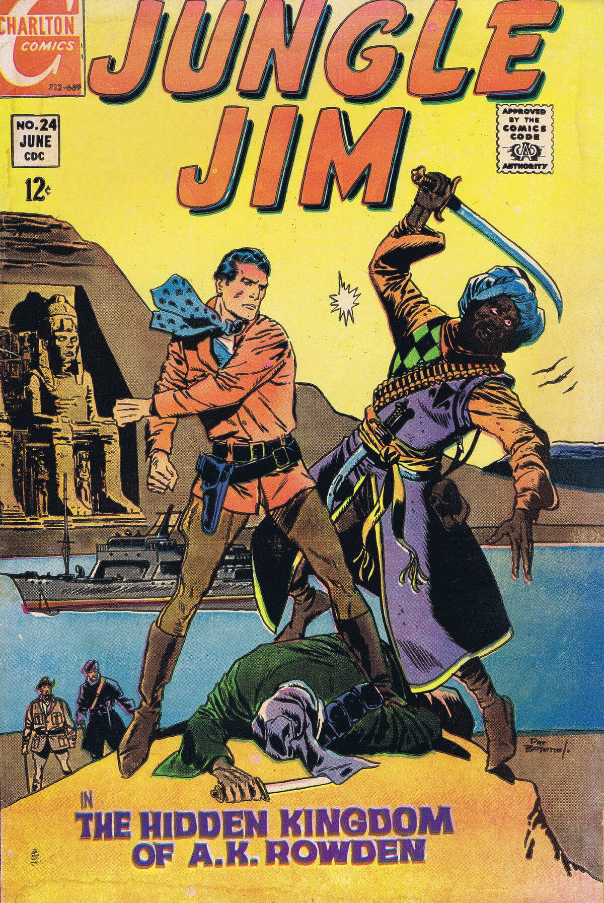 Charlton Comics Jungle Jim 24 Cover