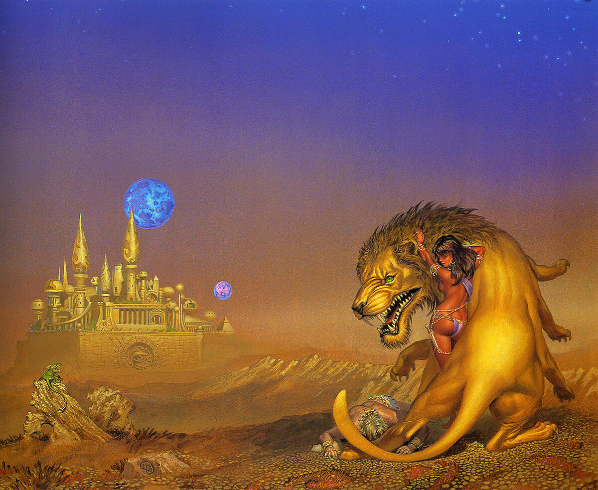 Michael Whelan 4 Thuvia Maid Of Mars Original