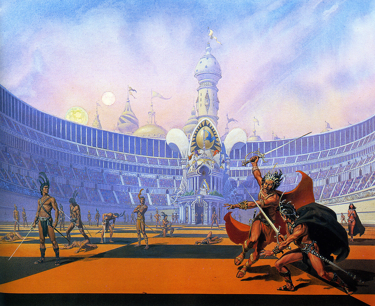Michael Whelan 5 Chessmen Of Mars Original