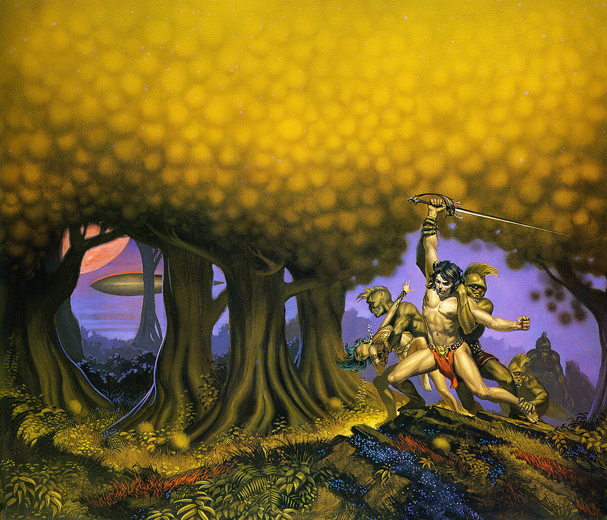 Michael Whelan 8 Swords Of Mars Original