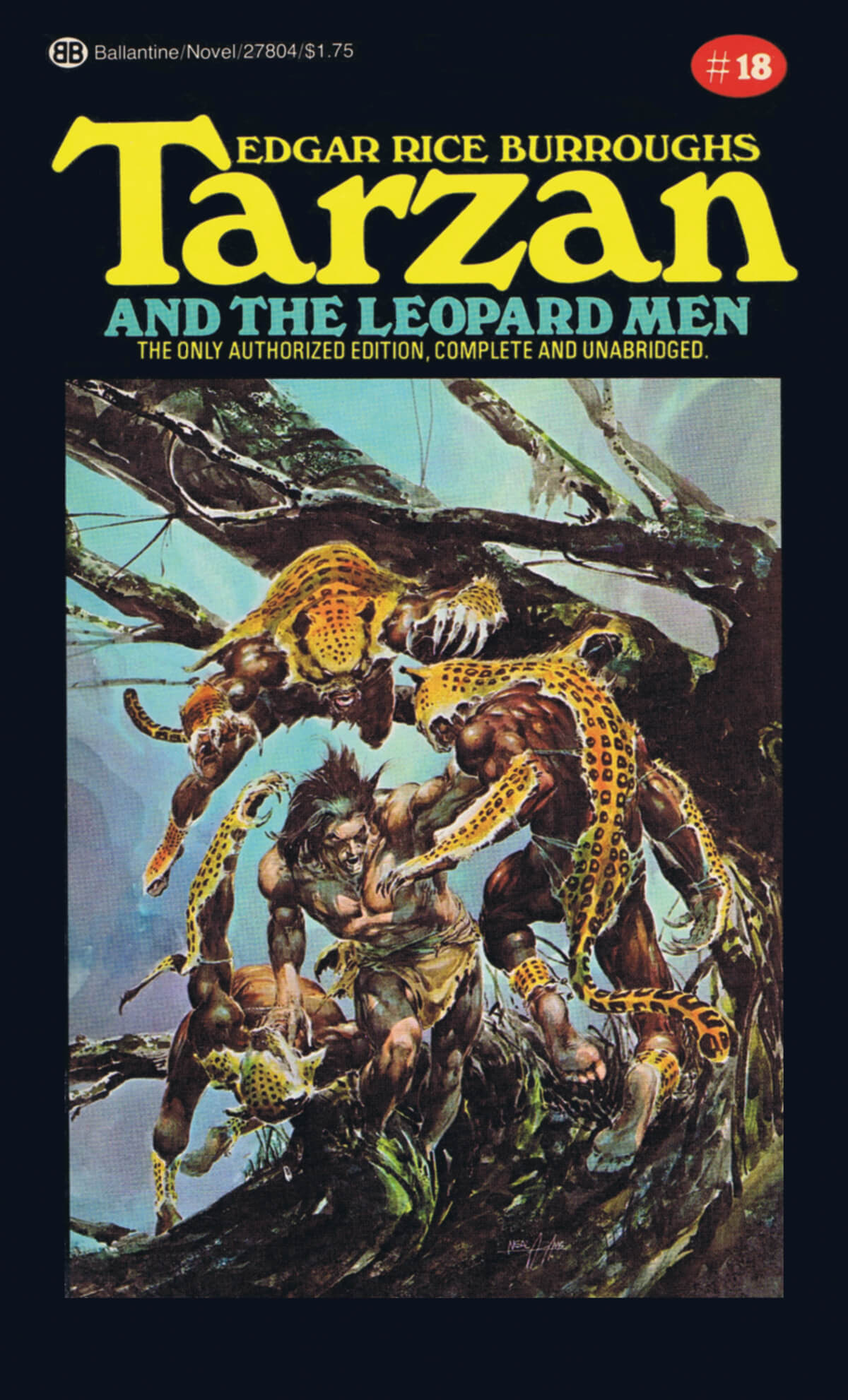 Neal Adams 18 Tarzan And The Leopard Men Cover