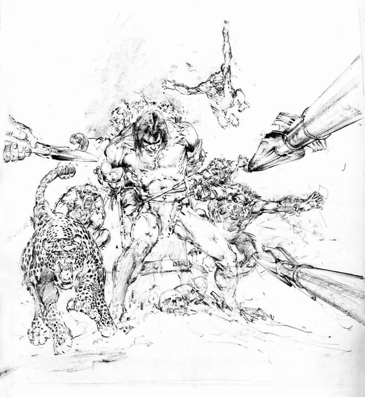 Neal Adams 3 The Beasts Of Tarzan Rough