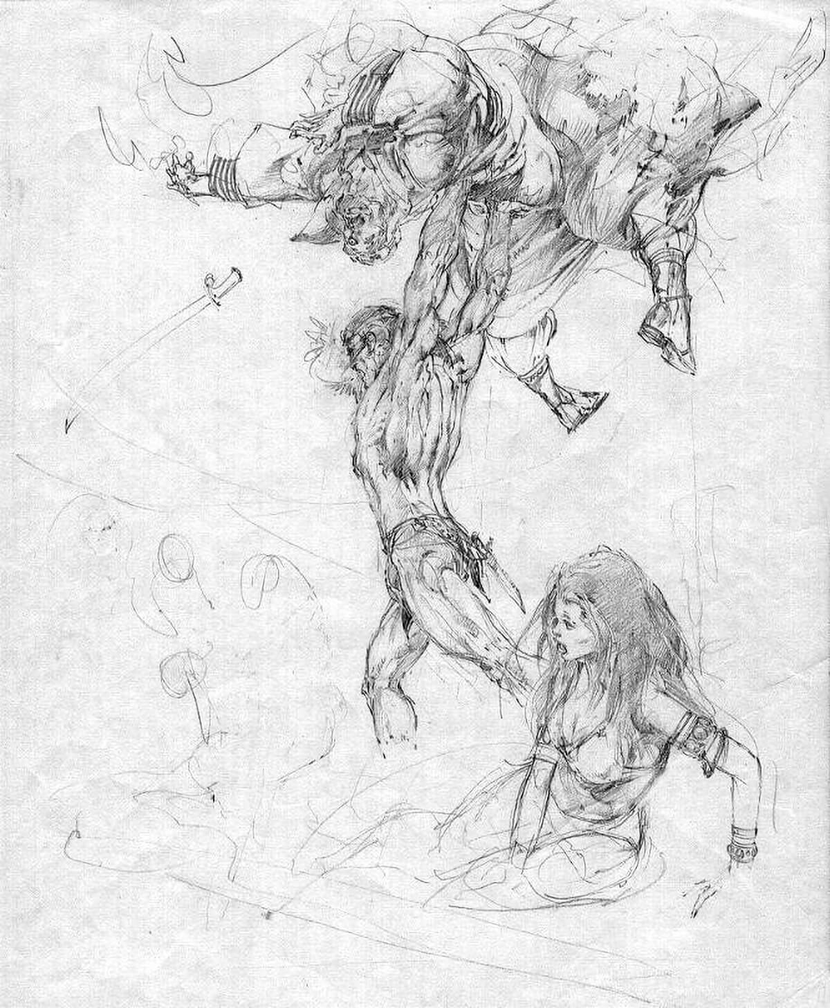 Neal Adams 4 The Son Of Tarzan Rough 1