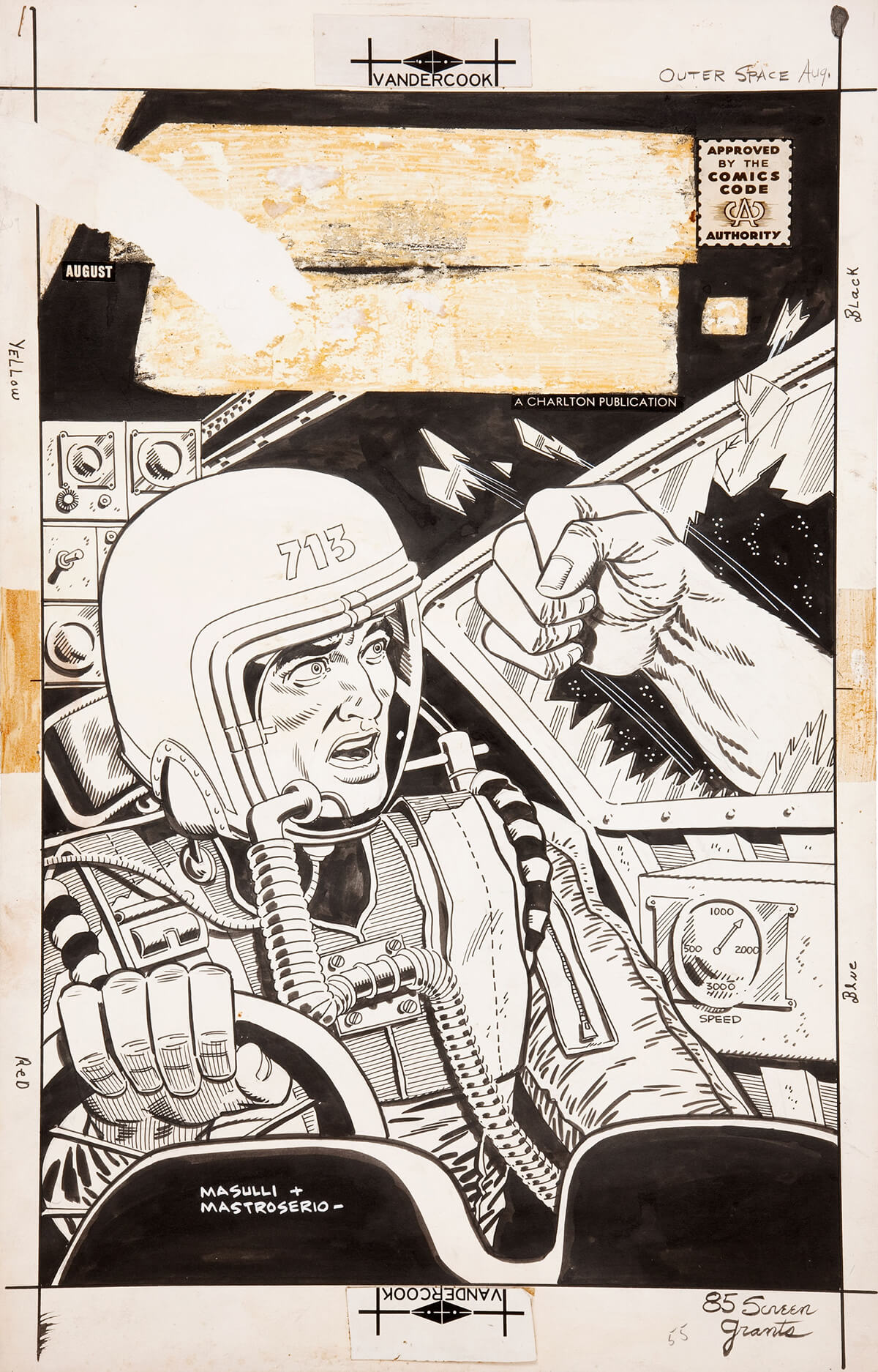 Outer Space 18 Cover art by Pat Masulli and Rocco Mastroserio