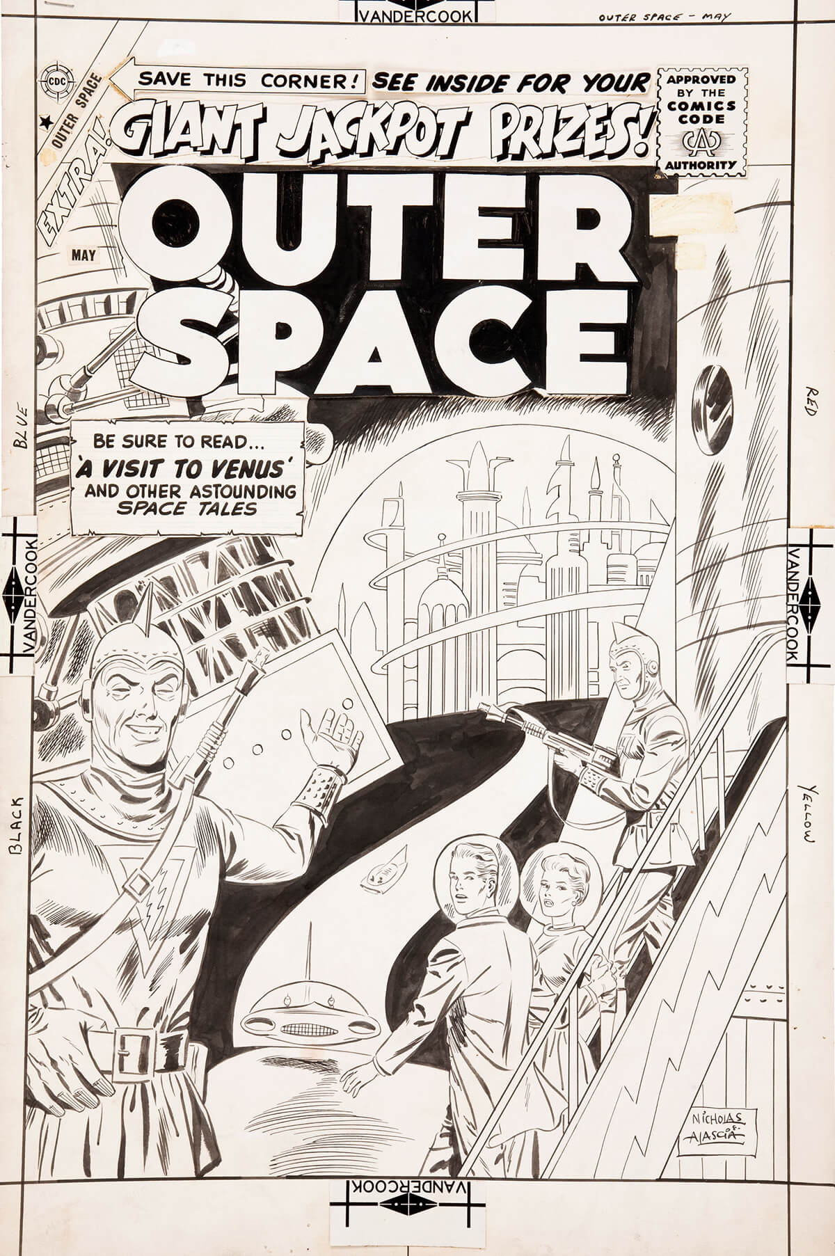 Outer Space 22 Cover by Charles Nicholas Wojtkoski and Vince Alascia