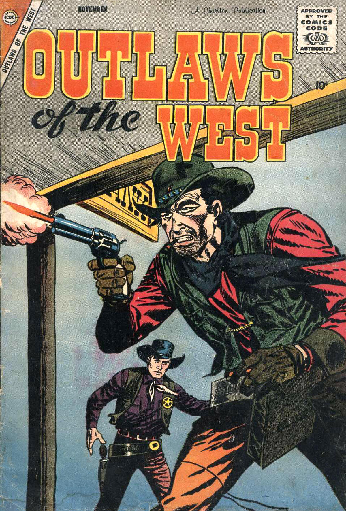 Outlaws Of The West 17 Cover by Rocco Mastroserio