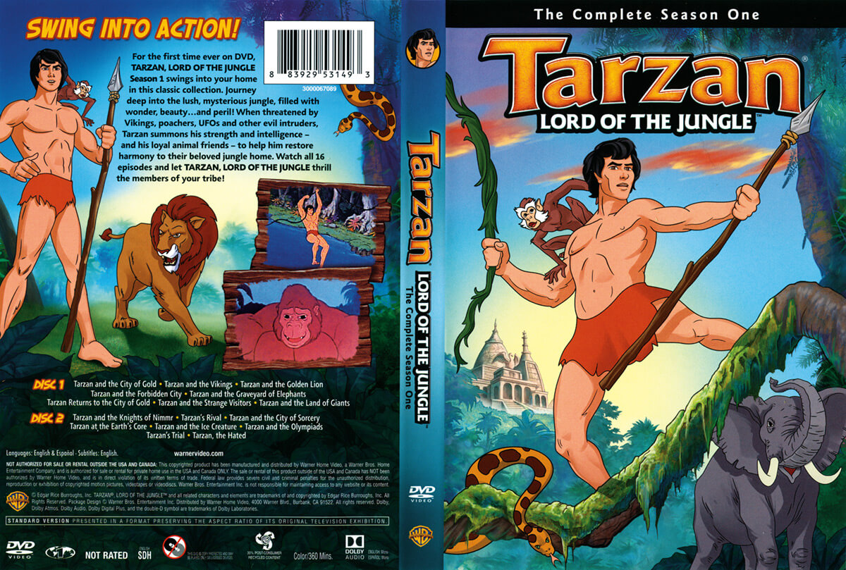Warner Bros Tarzan DVD Cover