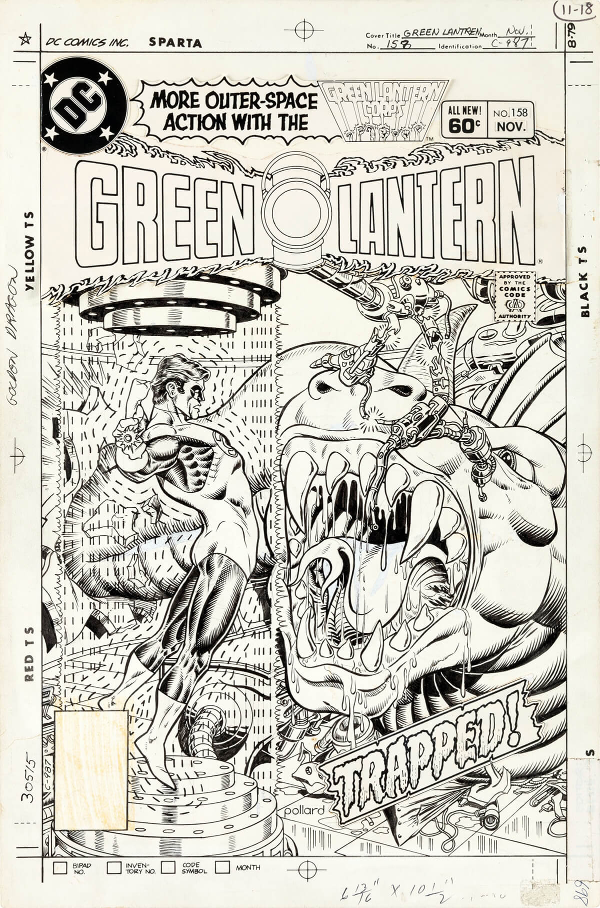 Green Lantern 158 Cover by Keith Pollard