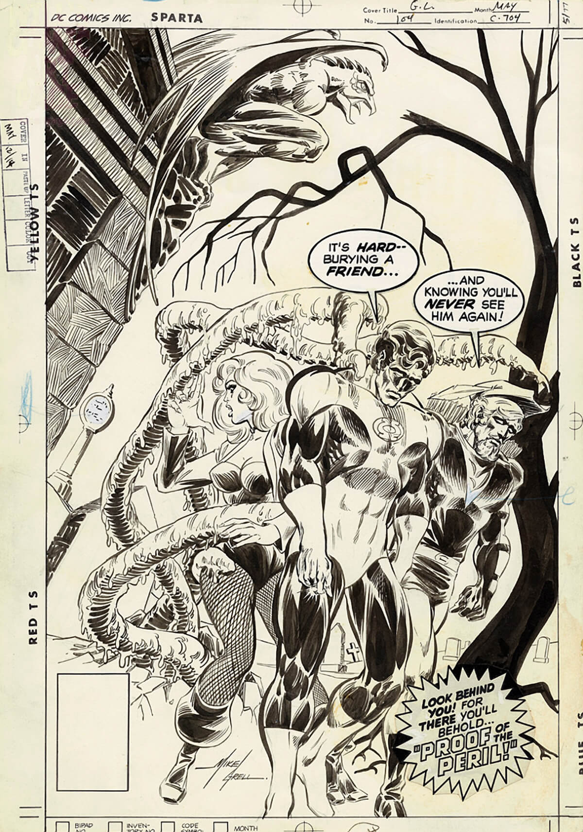 Green Lantern 104 Cover by Mike Grell