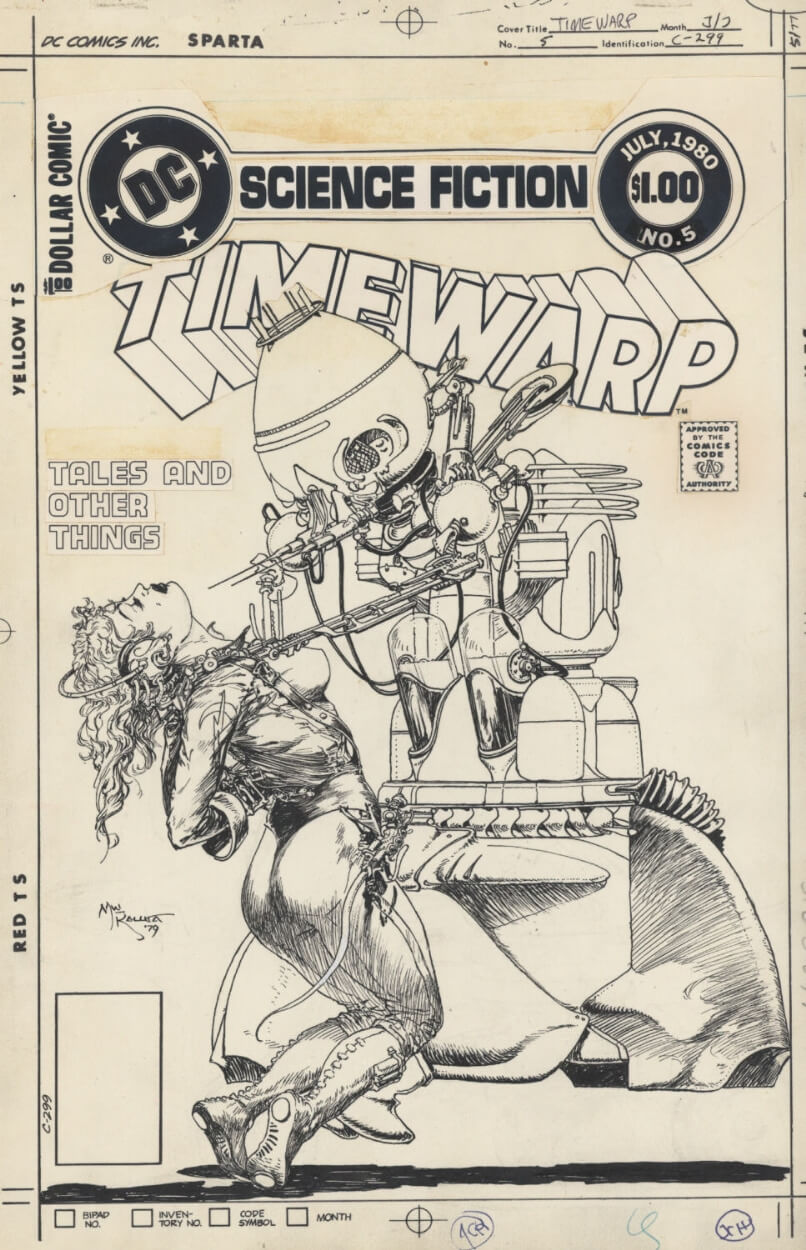 Time Warp 5 Cover by Michael Wm Kaluta