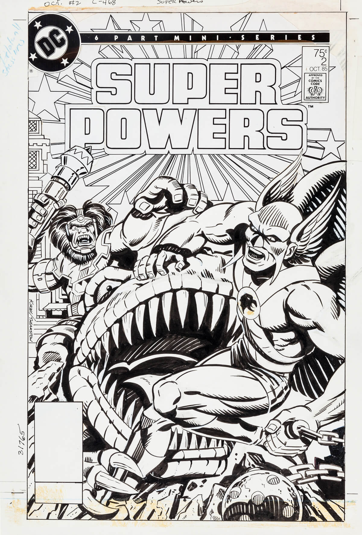 Super Powers 2 Cover by Jack Kirby and Grek Theakston