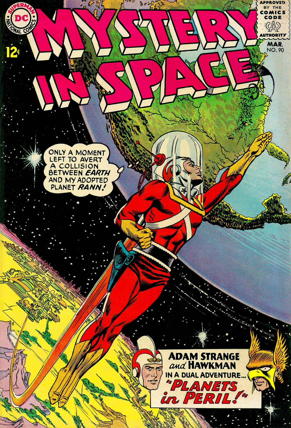 Mystery in Space 90 Cover by Carmine Infantino and Murphy Anderson