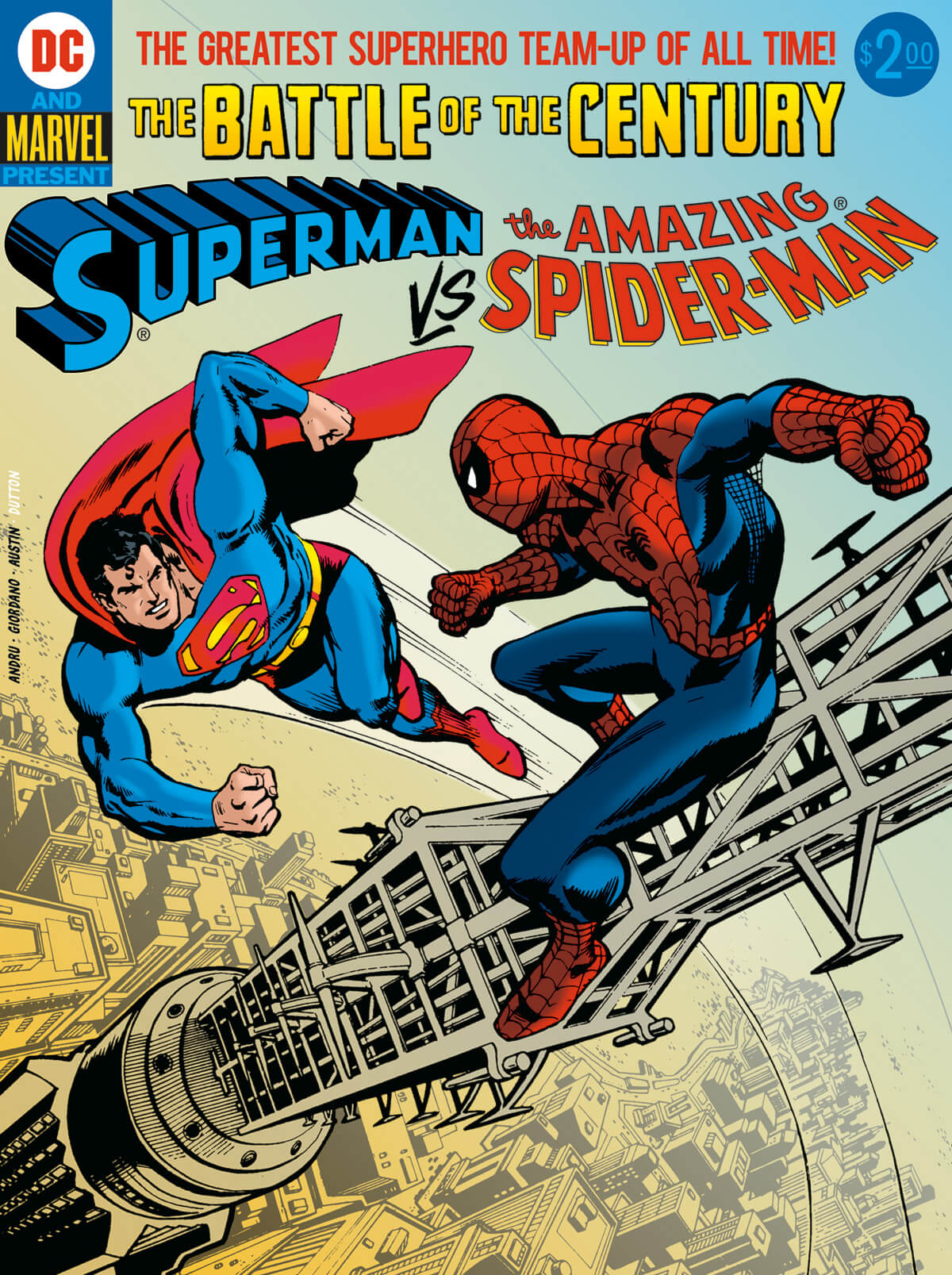 Superman vs. Spider-Man cover by Ross Andru and Dick Giordano