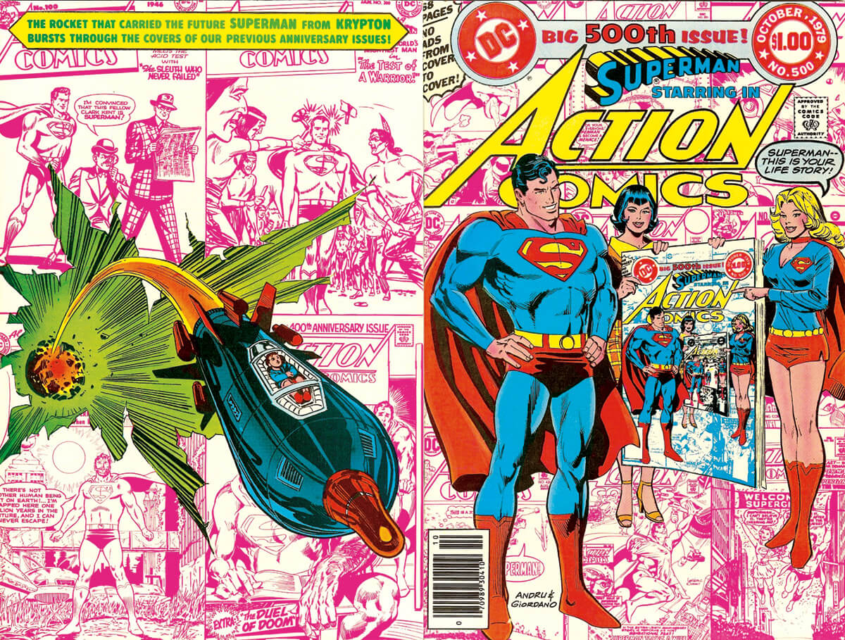 Action Comics 500 cover by Ross Andru and Dick Giordano