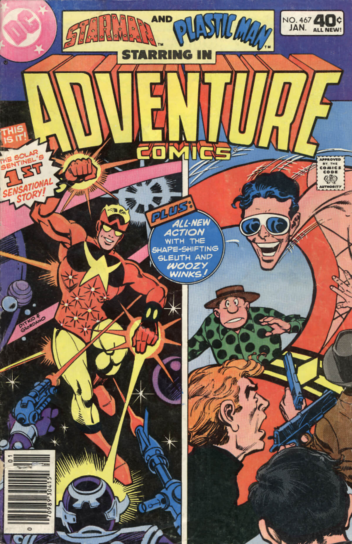 Adventure 467 Cover by Ditko, Cockrum and Giordano