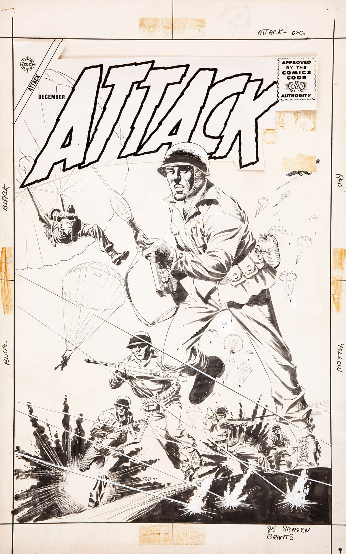 Attack 55 Cover by Dick Giordano