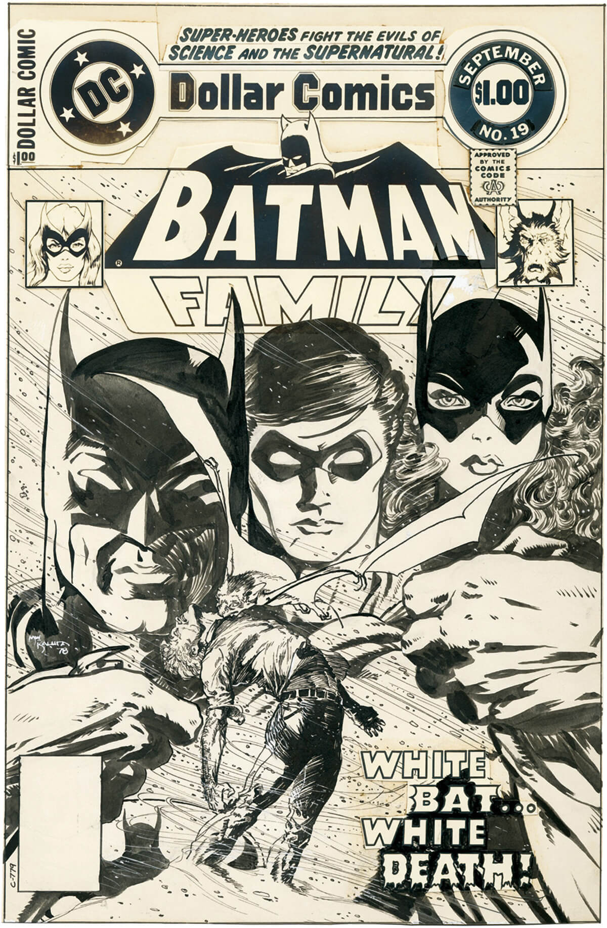 Batman Family 19 Cover by Michael Wm. Kaluta