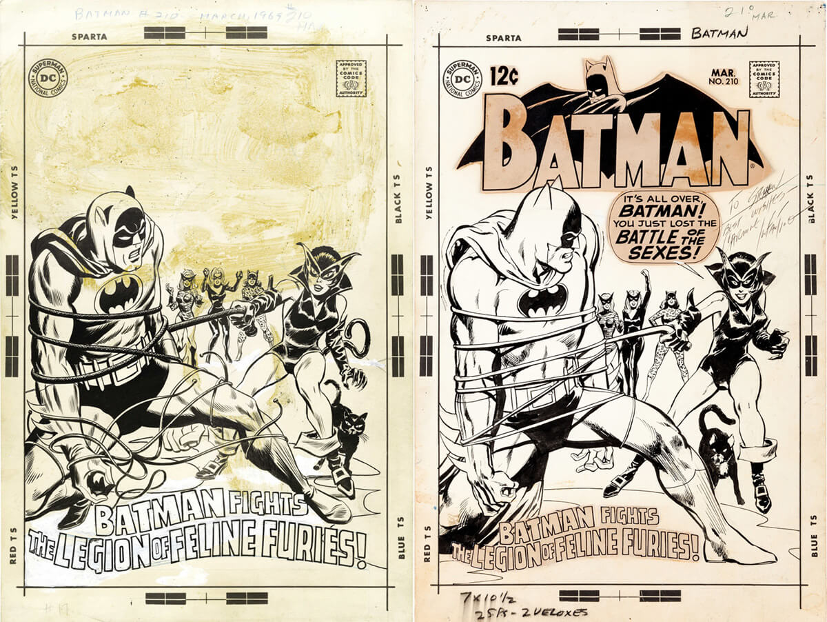 Batman 210 Covers by Irv Novick and Neal Adams