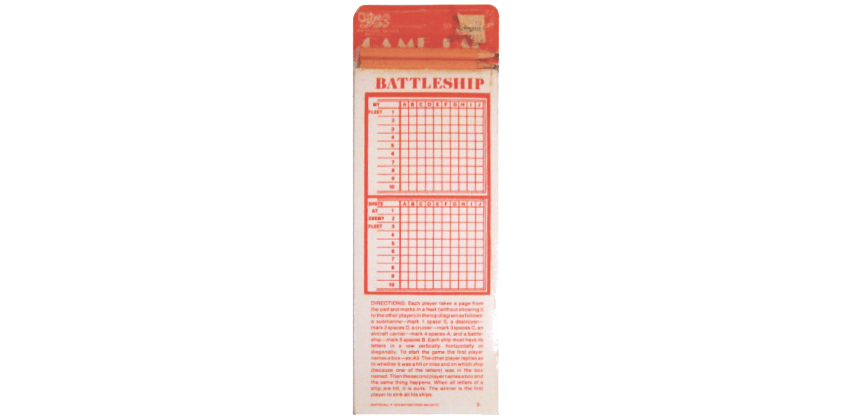 Battleship pad game