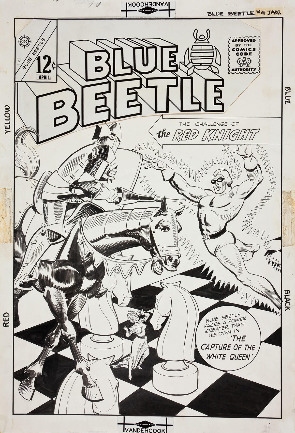 Blue Beetle 1964 5 cover by Bill Fraccio and Dick Giordano