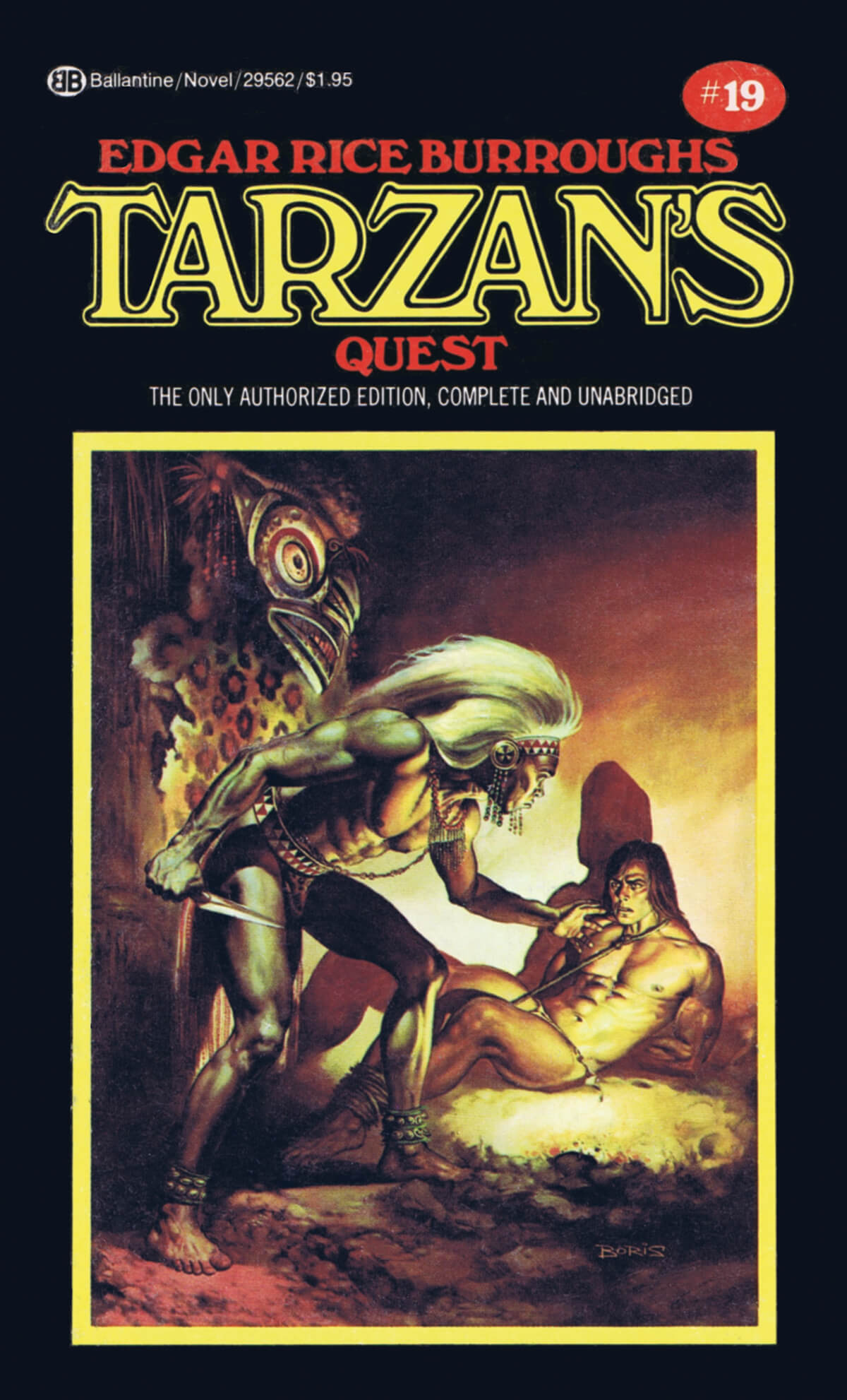 Boris Vallejo 19 Tarzans Quest Cover