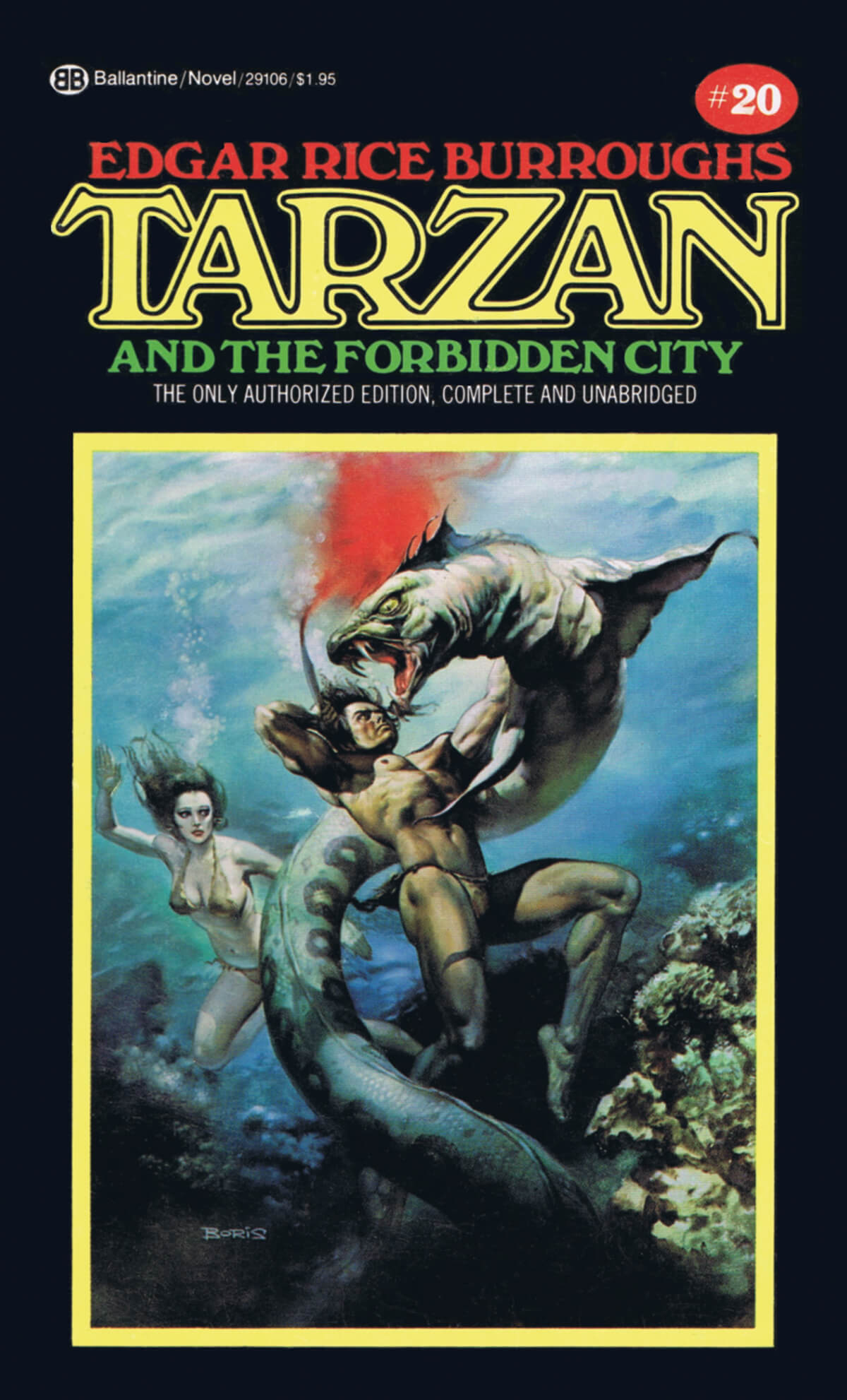 Boris Vallejo 20 Tarzan And The Forbidden City Cover