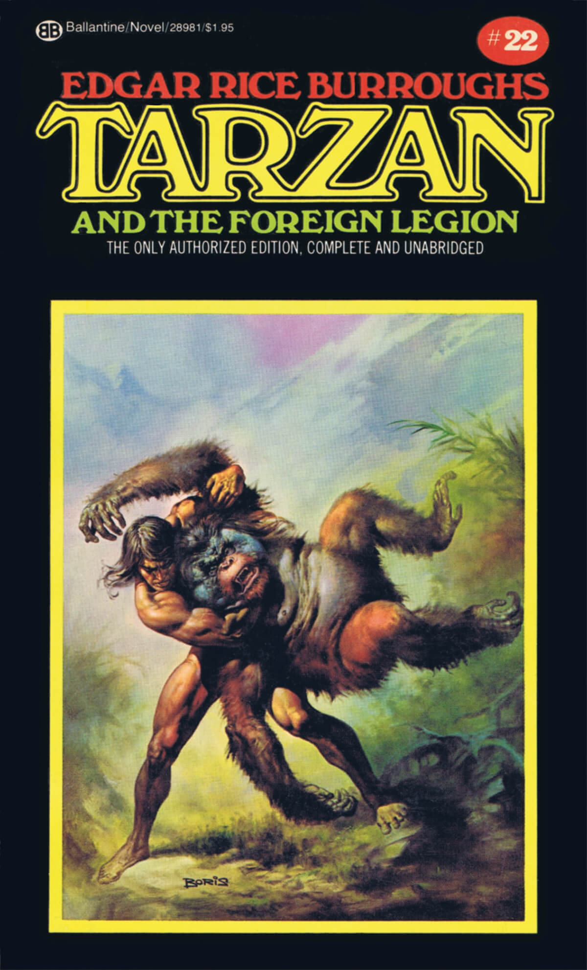 Boris Vallejo 22 Tarzan And The Foreign Legion Cover