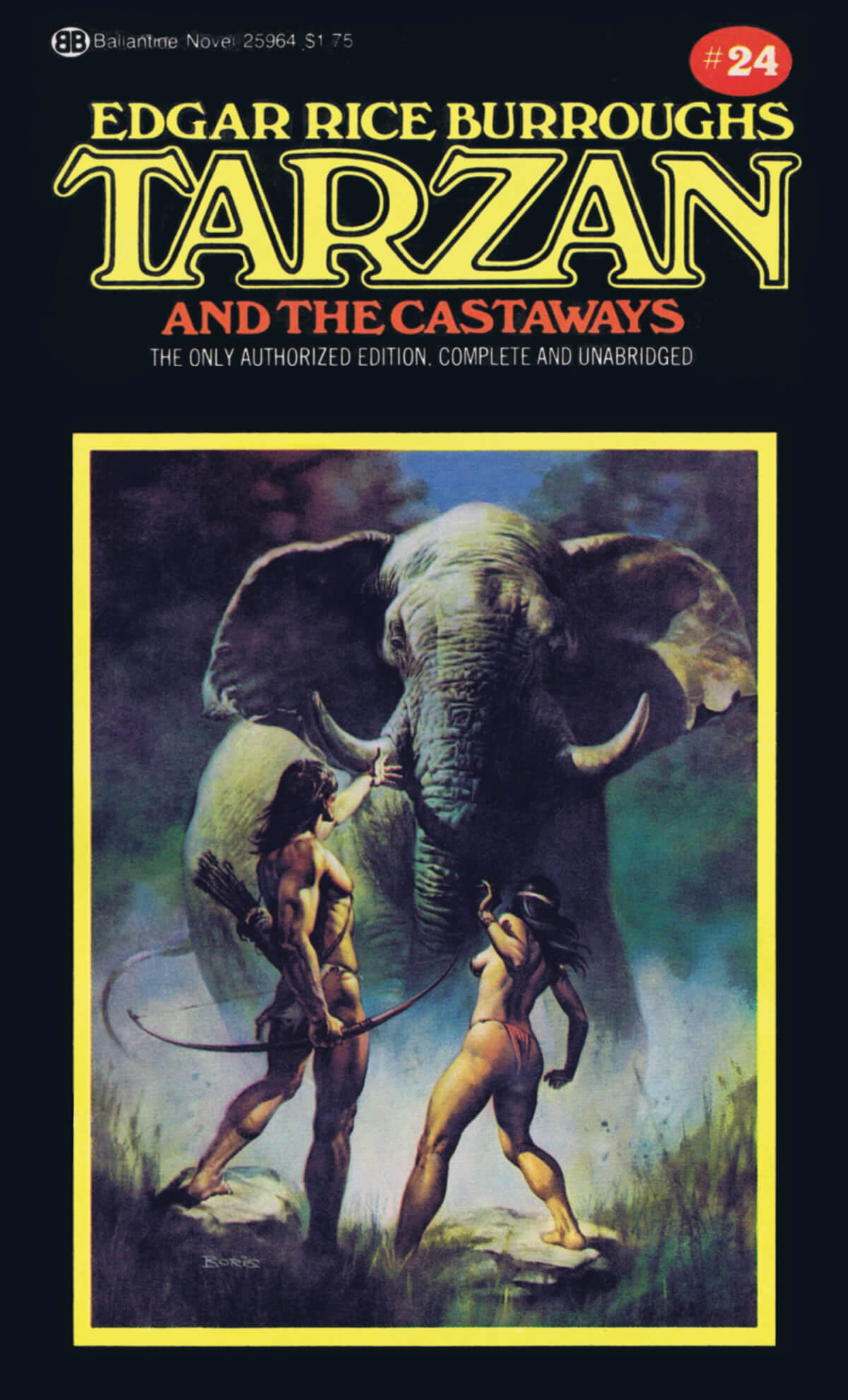 Boris Vallejo 24 Tarzan And The Castaways Cover