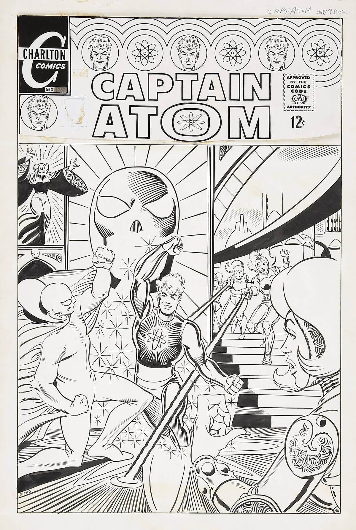 Captain Atom 90 Cover by Steve Ditko