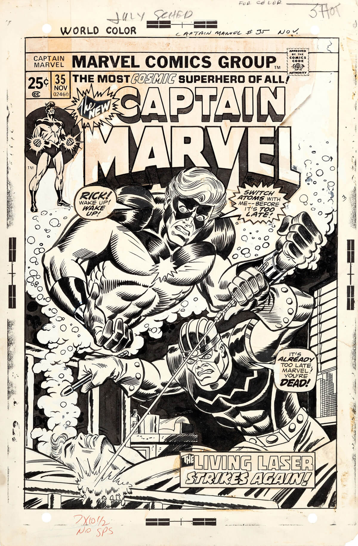Captain Marvel 35 by Ron Wilson and Frank Giacoia