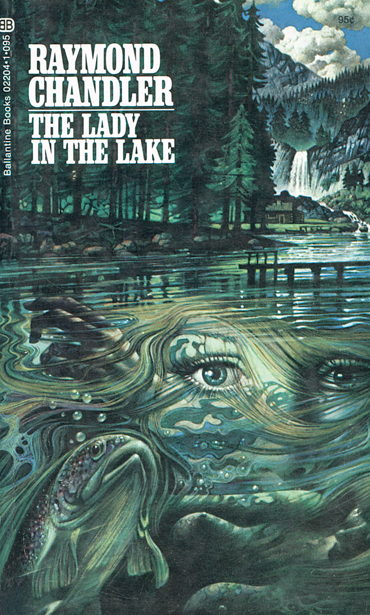 The Lady in the Lake by Raymond Chandler, Cover by Tom Adams