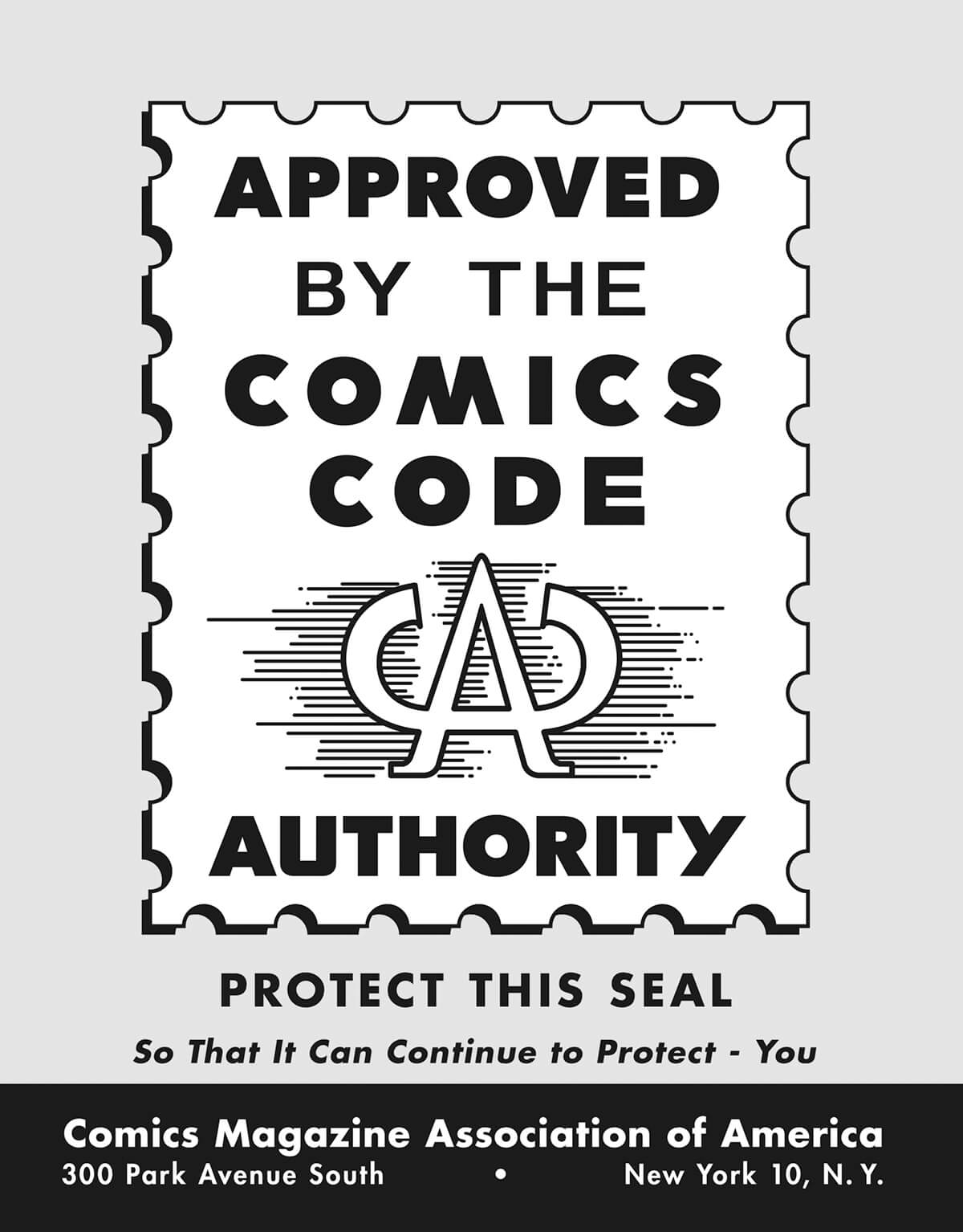 The Comics Code Authority Flyer