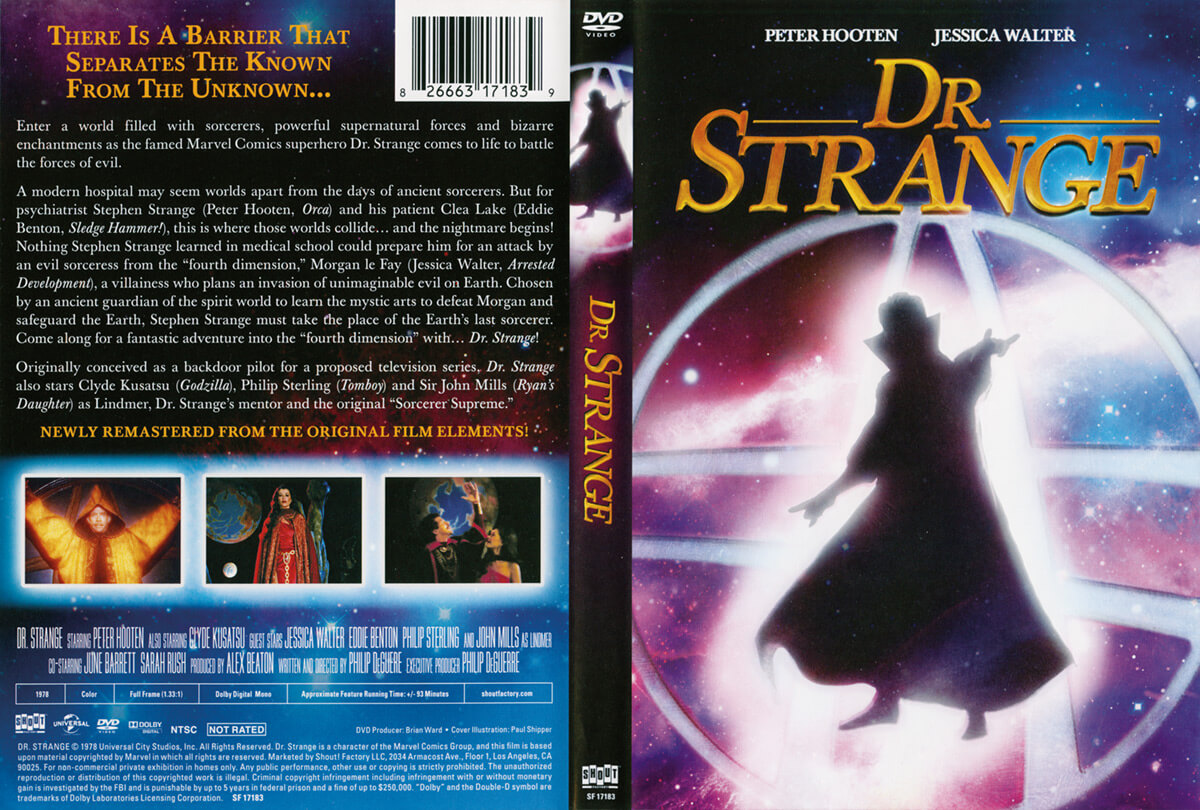 Doctor Strange (1978) Shout Factory DVD Cover