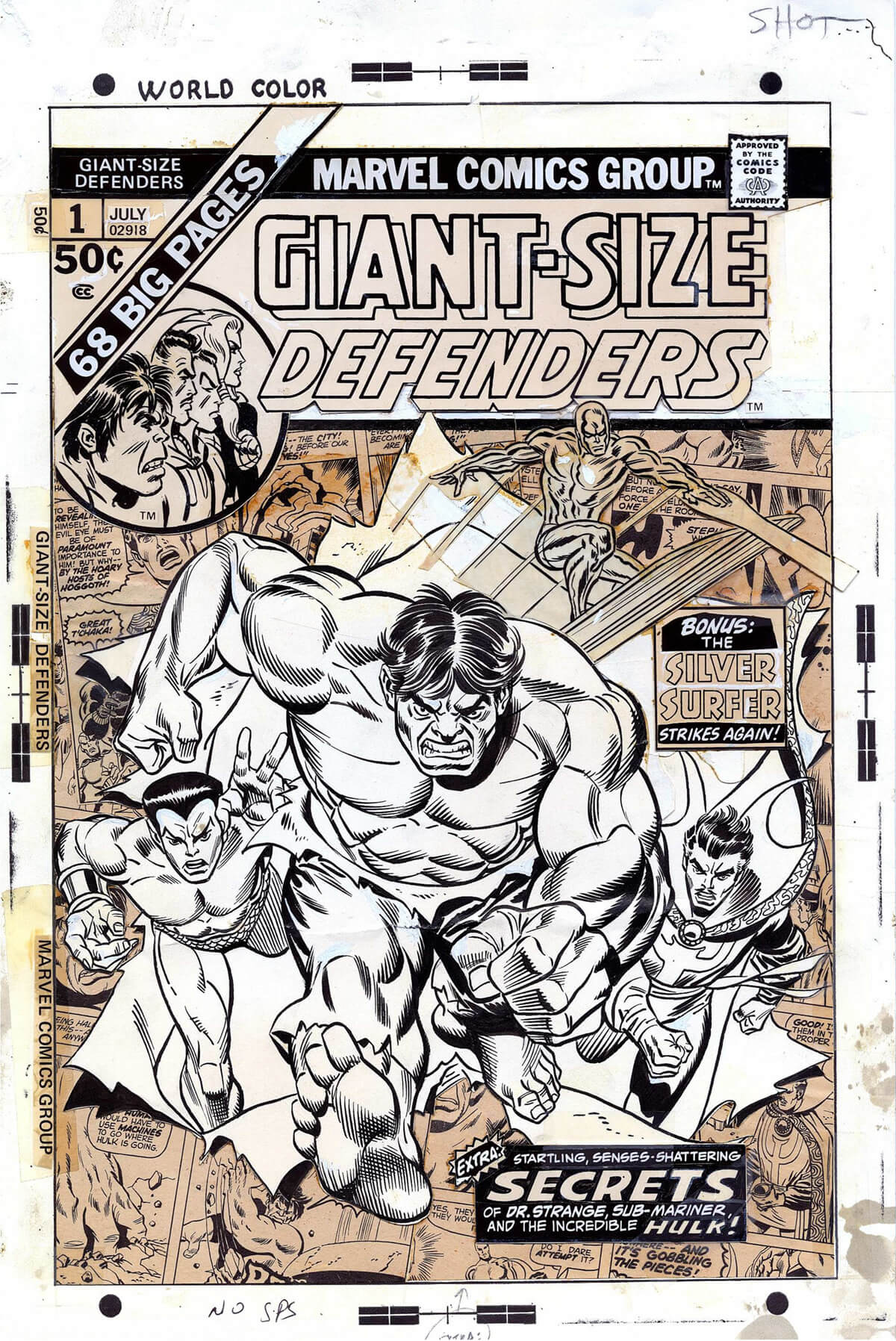 Giant-Size Defenders 1 by Gil Kane and Frank Giacoia