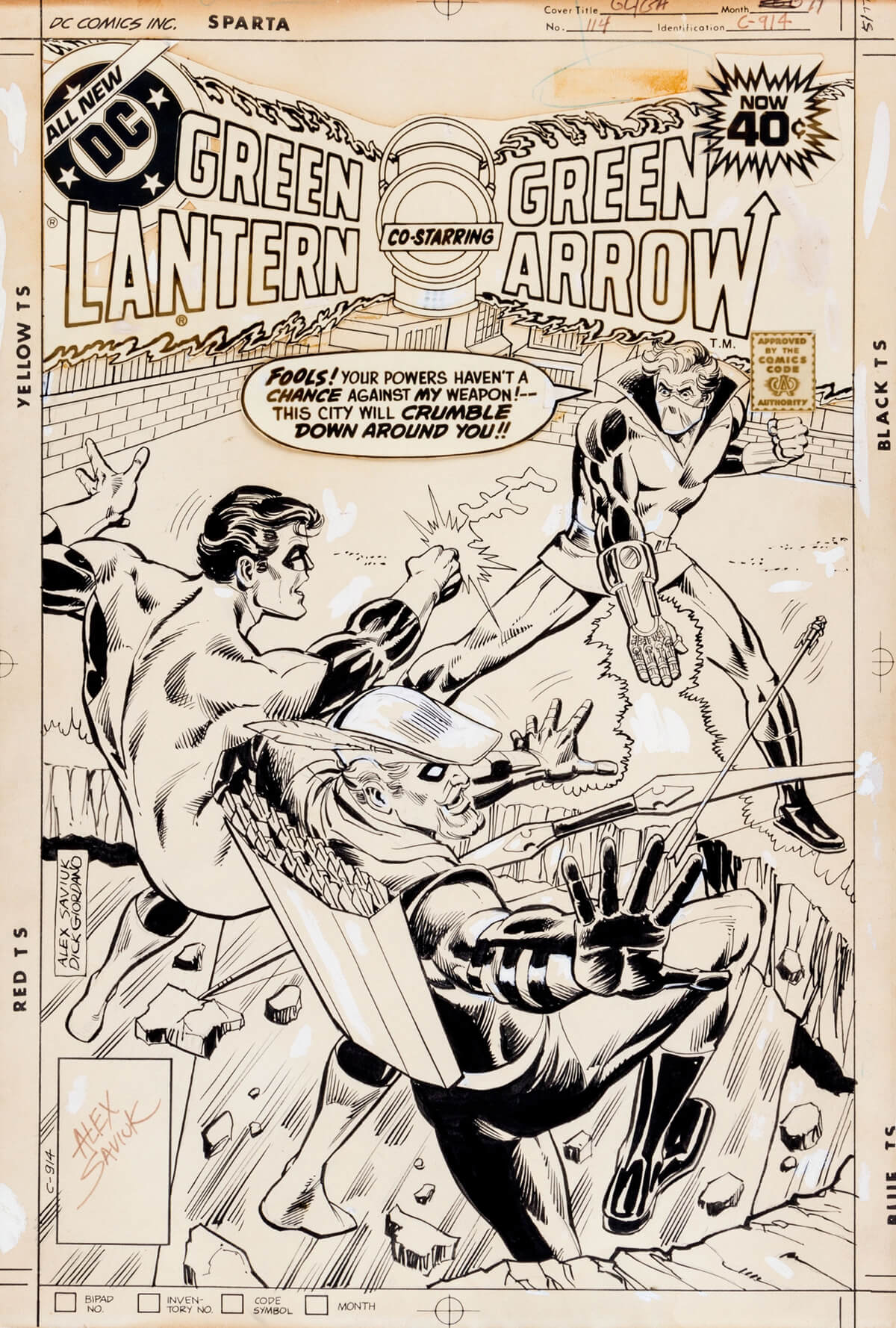 Green Lantern 114 Cover by Alex Saviuk and Dick Giordano