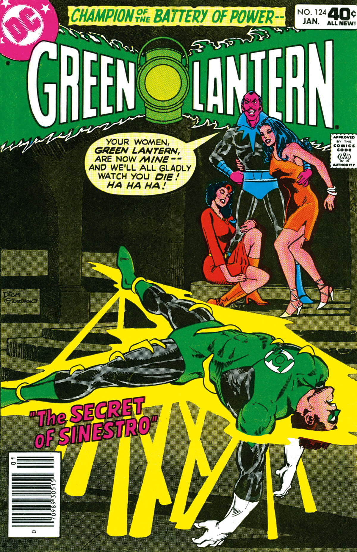 Green Lantern 124 Cover by Dick Giordano