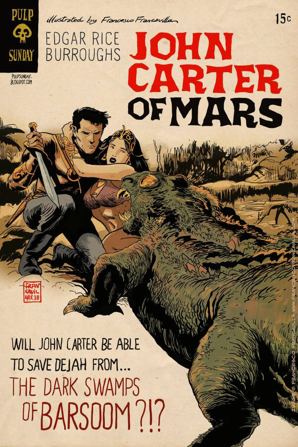 John Carter Of Mars by Francesco Francavilla