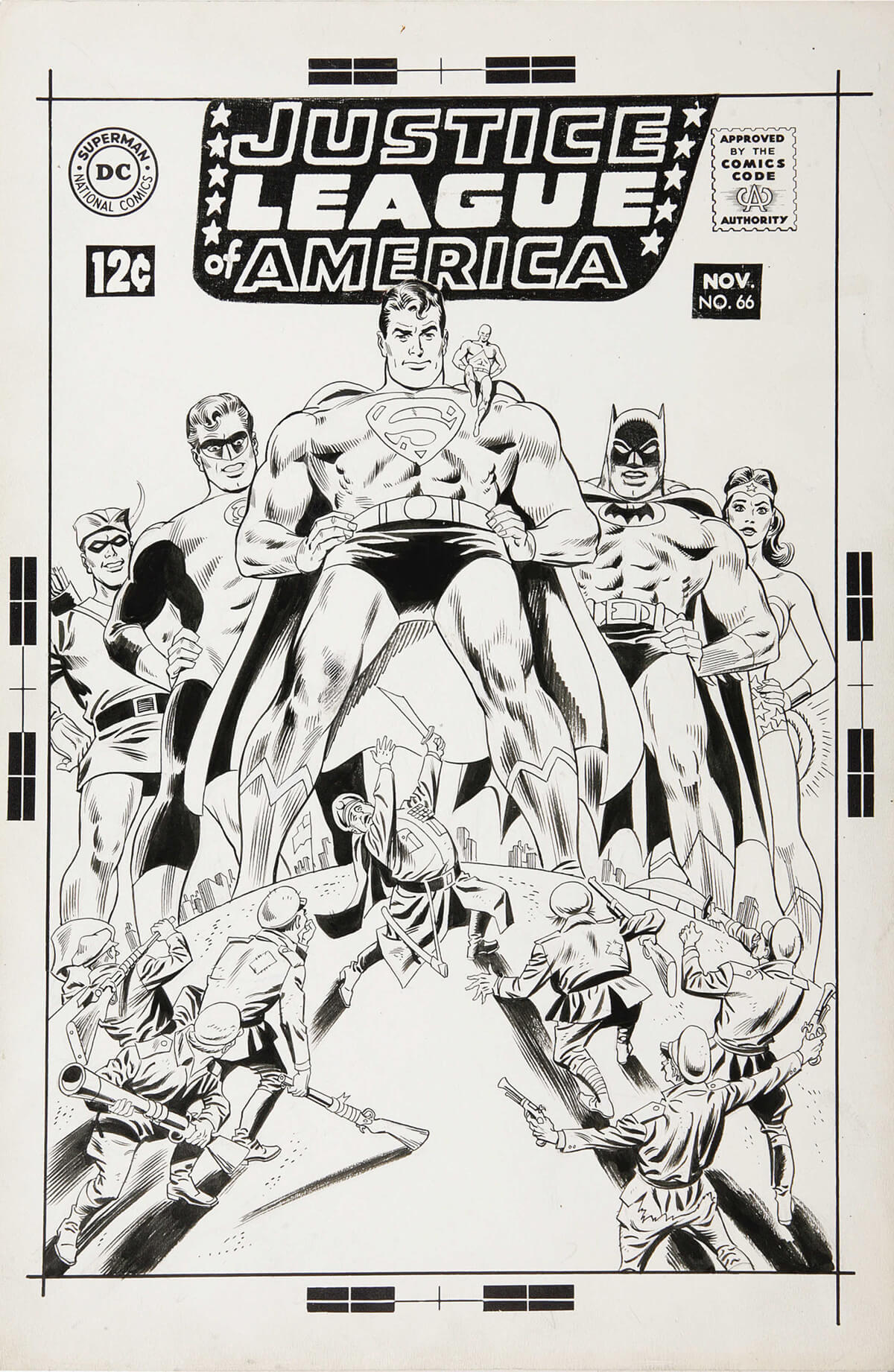 Justice League of America 66 cover by Dick Dillin and Joe Giella
